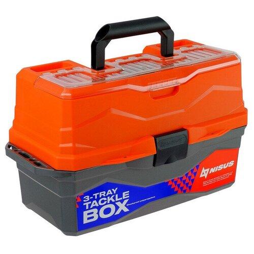Ящик для рыбалки Nisus N-TB-3 44.5х25х22 см оранжевый