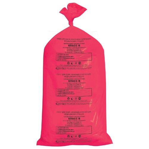 Мешки для мусора Аквикомп Класс В 100 л (20 шт.) красный