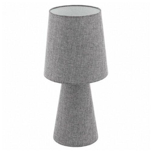 Лампа декоративная Eglo Carpara 97132, E27, 24 Вт, цвет плафона/абажура: серый