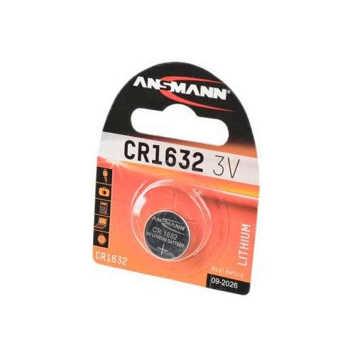 Батарейка ANSMANN CR1632 1 шт блистер