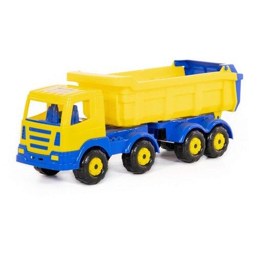 Купить Грузовик Wader Престиж с полуприцепом (44228) 53 см желтый/синий, Машинки и техника