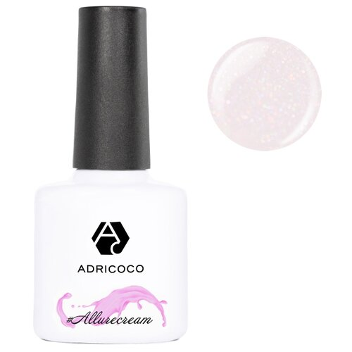 Гель-лак для ногтей ADRICOCO #Allurecream, 8 мл, 07 камуфлирующий персиковый с шиммером
