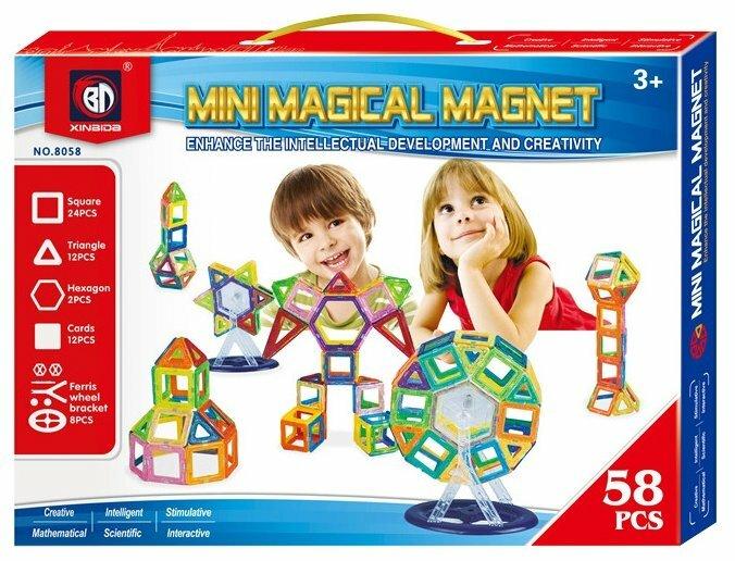 Магнитный конструктор Xinbida Mini Magical Magnet 8058 — купить по выгодной цене на Яндекс.Маркете