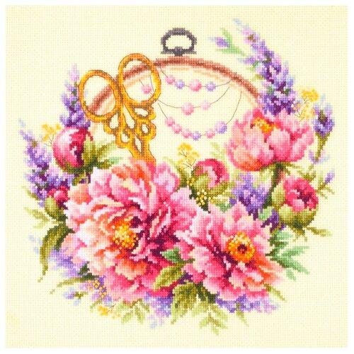 Купить Чудесная Игла Набор для вышивания Пионы для умелицы 25 х 25 см (100-124), Наборы для вышивания
