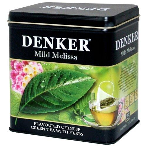 Чай зеленый Denker Mild melissa в пирамидках, 25 шт. denker mellow citrus черный чай в пирамидках 25 шт