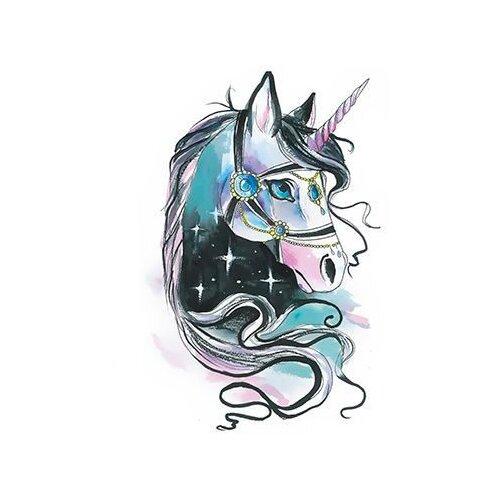 Polysfera Tattoo Авторская татуировка Tattoo PS&KG 0022 синий/фиолетовый/черный