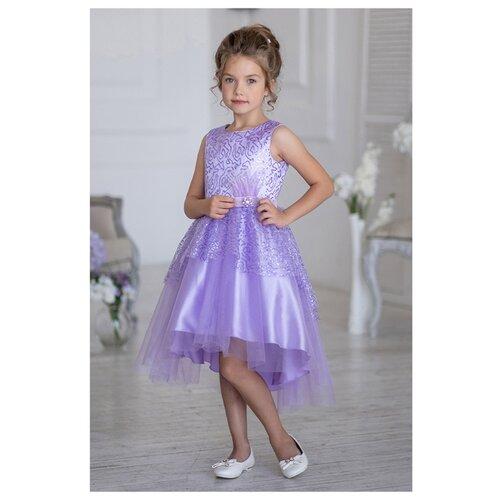 Купить Платье ALOLIKA размер 134-68-60, сиреневый, Платья и сарафаны