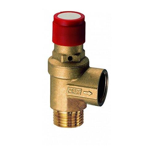 Предохранительный клапан FAR FA 2004 121230 муфтовый (ВР/НР), латунь, 3 бар, Ду 15 (1/2) клапан предохранительный автоматический far fa 2004 121260 1 2 нр ш х 1 2 вр г 6 бар для систем отопления