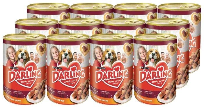 Корм для собак Darling печень 12шт. х 1.2 кг