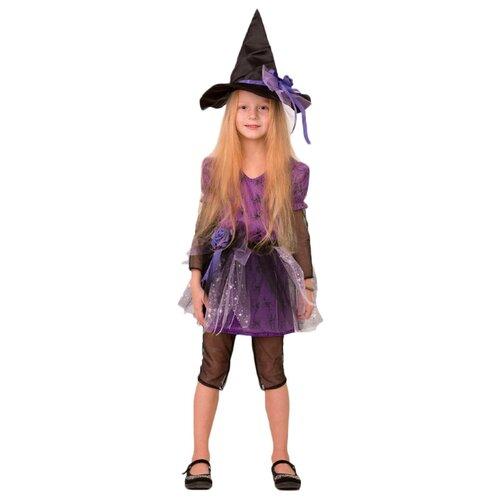 Купить Костюм Батик Ведьмочка (8075), фиолетовый, размер 134, Карнавальные костюмы