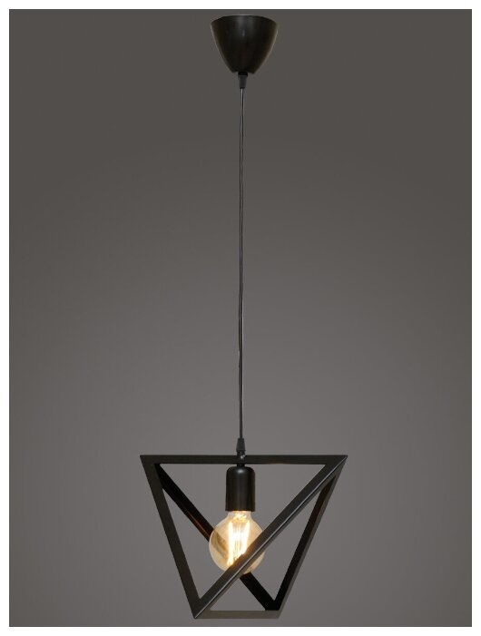 Купить Подвесной светильник Северный свет Геометрия 1-р. венге по низкой цене с доставкой из Яндекс.Маркета