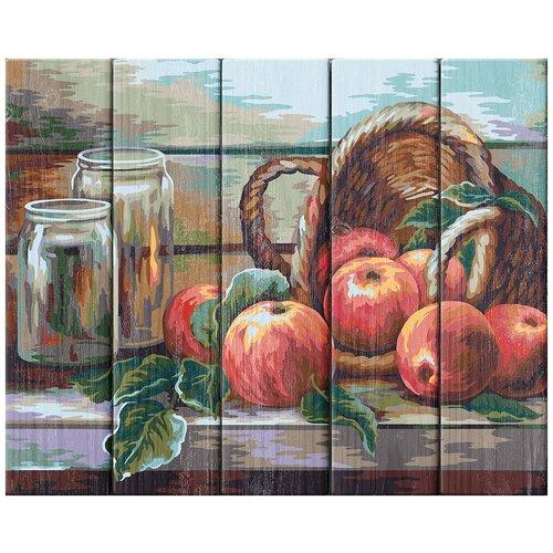 Купить ФРЕЯ PKW-1 56 Набор для раскрашивания по номерам (по дереву) 40 х 50 см Натюрморт с яблоками. Жанна Когай , Картины по номерам и контурам