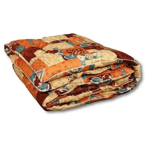 Фото - Одеяло АльВиТек Традиция, теплое, 140 х 205 см (бежевый/коричневый/оранжевый) одеяло альвитек эвкалипт традиция легкое 140 х 205 см голубой