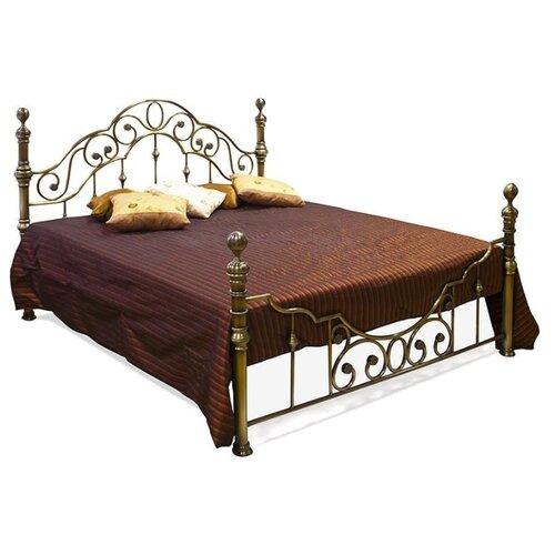 Кровать TetChair VICTORIA двуспальная, размер (ДхШ): 215х170 см, спальное место (ДхШ): 200х160 см, каркас: массив дерева, цвет: античная медь
