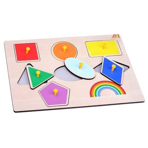 Пазл-вкладыш Деревянные игрушки Геометрия (ДИ113)