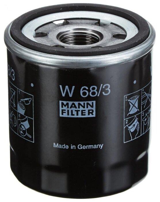 Масляный фильтр MANNFILTER W68/3