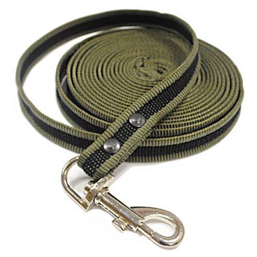 Фото - Поводок для собак Homepet 5128519 зеленый 3 м 18 мм поводок для собак homepet простроченный 52108 черный 1 2 м 8 мм