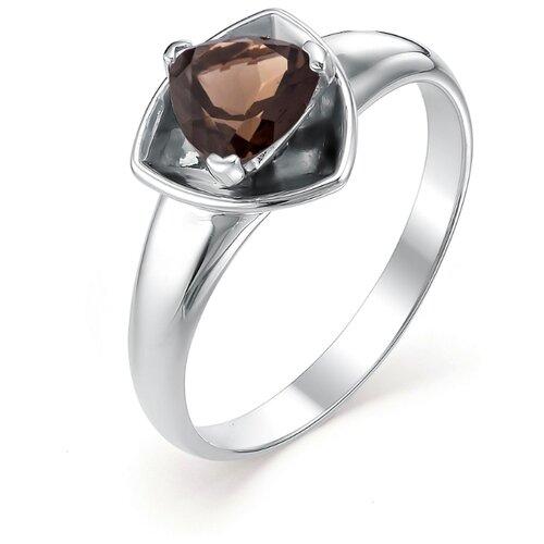 АЛЬКОР Кольцо с 1 раухтопазом из серебра 01-0371-00РТ-00, размер 18 алькор кольцо с раухтопазом и фианитами из серебра 01 0542 00рт 00 размер 18 5