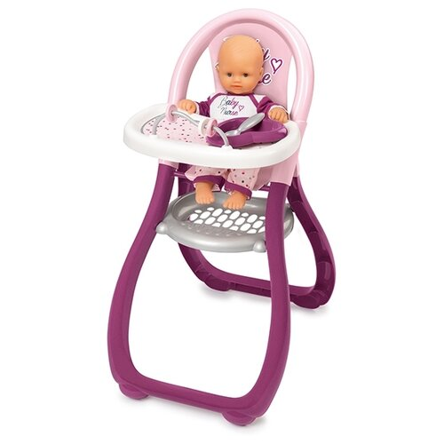 Купить Smoby Стульчик для кормления Baby Nurse (220342) фиолетовый/розовый, Мебель для кукол