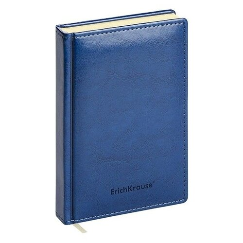 Купить Ежедневник ErichKrause Nebraska недатированный, искусственная кожа, А6+, 168 листов, синий, Ежедневники, записные книжки