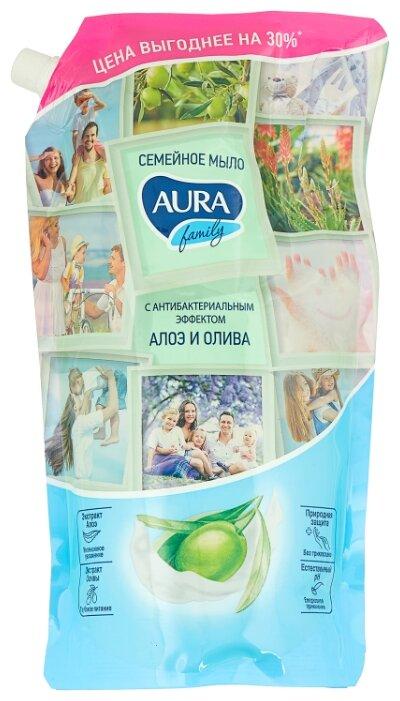 Мыло жидкое Aura Family с антибактериальным эффектом