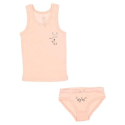Купить Комплект нижнего белья RuZ Kids размер 116-122, персиковый, Белье и купальники