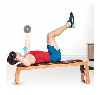 Универсальная скамья для тренировок Xiaomi Three Position Multifunctional Fitness Training Chair (MMH0101A) — купить по выгодной цене на Яндекс.Маркете