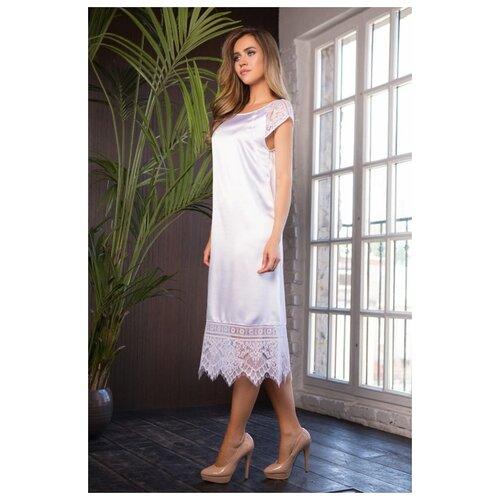 Mia&Mia Длинная сорочка Evelin с кружевом, белый, XL костюм горизонт маскировочный сорочка белый xl