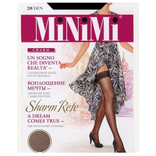 Чулки MiNiMi Sharm Rete 20 den, размер 4-L, nero чулки minimi