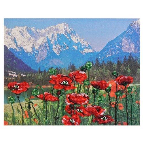 М.П.Студия Набор для вышивания бисером Маки и горы 28 x 35 см (БГ-224)