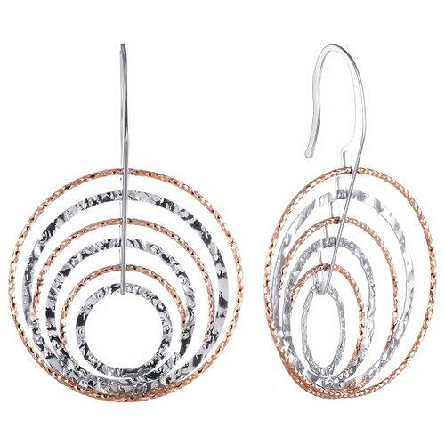 JV Серьги из серебра с позолотой 1476-SR-001-VR jv женское серебряное кольцо с куб циркониями в позолоте wr22790 bm 001 vr 16 5