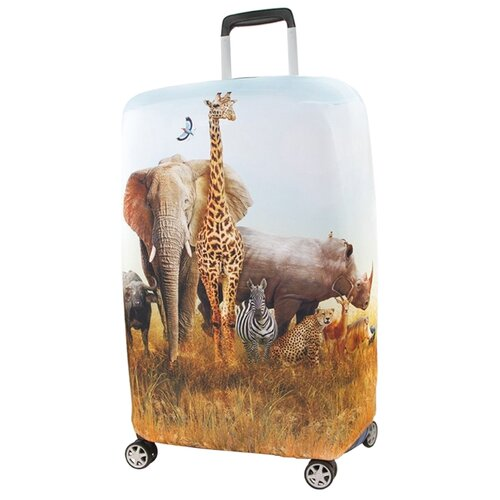 Фото - Чехол для чемодана RATEL Animal Madagascar S, бежевый подушка ratel animal madagascar для сна one size