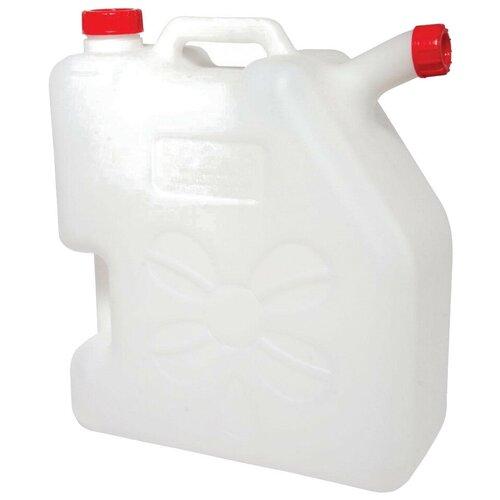 Канистра Альтернатива со сливом М268, 22 л, белый канистра пластиковая со сливом альтернатива м427 15 л