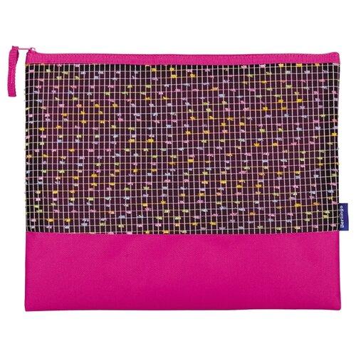 Купить Berlingo Папка для тетрадей на молнии Fashion А4, ткань розовый/фиолетовый, Файлы и папки