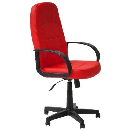 Компьютерное кресло TetChair CH 747, обивка: искусственная кожа, цвет: красный кресло компьютерное tetchair оксфорд oxford доступные цвета обивки искусств корич кожа искусств корич перфор кожа