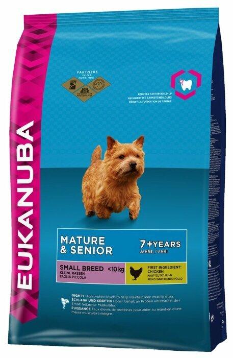 Корм для пожилых собак Eukanuba для здоровья кожи и шерсти, для здоровья костей и суставов, курица 1 кг (для мелких пород)