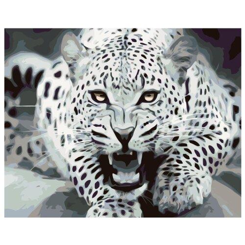 Угроза леопарда Раскраска по номерам на холсте Живопись по номерам KTMK-57945 40х50 дальние странствия раскраска по номерам на холсте живопись по номерам ktmk 96447 40х50