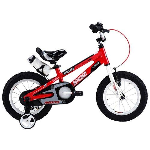 Детский велосипед Royal Baby RB14-17 Freestyle Space №1 Alloy Alu 14 красный (требует финальной сборки) двухколесные велосипеды royal baby freestyle space 1 alloy 14
