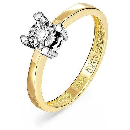 Фото - KABAROVSKY Кольцо с 1 бриллиантом из жёлтого золота 11-21102-1000, размер 17.5 kabarovsky кольцо с 1 бриллиантом из жёлтого золота 11 2999 1000 размер 18
