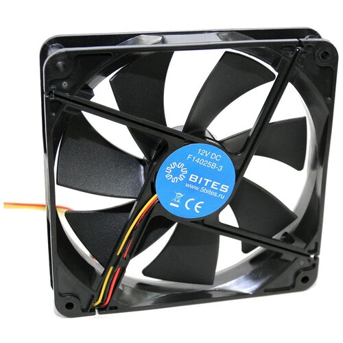 Вентилятор для корпуса 5bites F14025B-3 черный вентилятор для корпуса 5bites f6010s 3