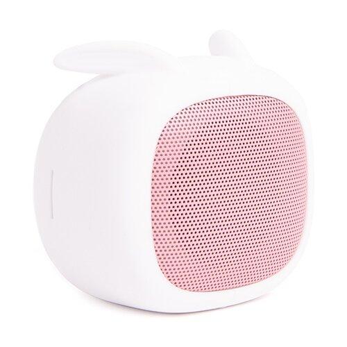 Портативная акустика Atom BS-02 rabbit бледно-розовый/белый.