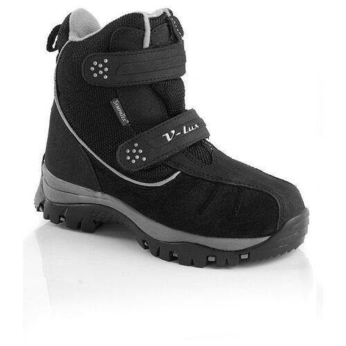 Фото - Ботинки V-Lux размер 34, черный дутики для девочки biki цвет черный a b23 33 c размер 34