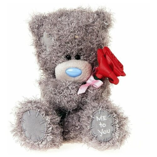 Мягкая игрушка Me to you Мишка Тедди с красной розой 18 см