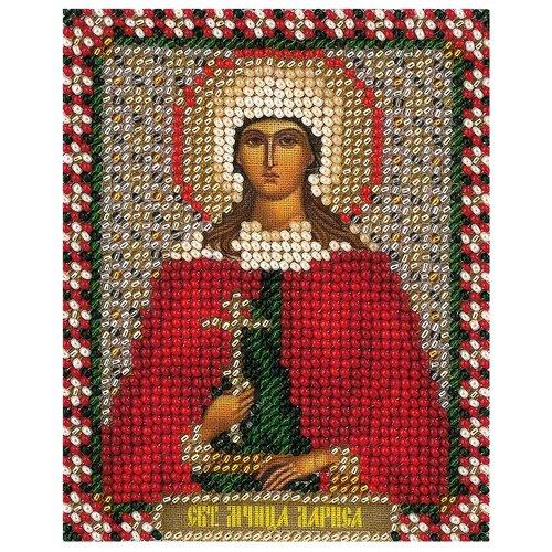 Купить PANNA Набор для вышивания бисером Икона Святой мученицы Ларисы 8.5 x 10.5 см (CM-1462), Наборы для вышивания