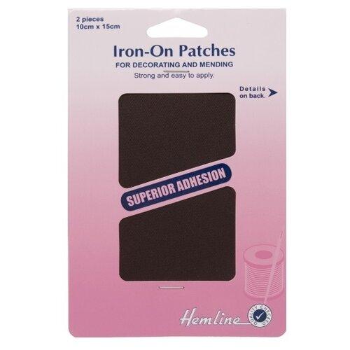 Фото - Hemline Термозаплатка для легких и средних по весу тканей 15 х 10 см 690.BR, коричневый (2 шт.) hemline термозаплатка для ремонта и укрепления ткани 12 х 44 см 690 l dd темный деним