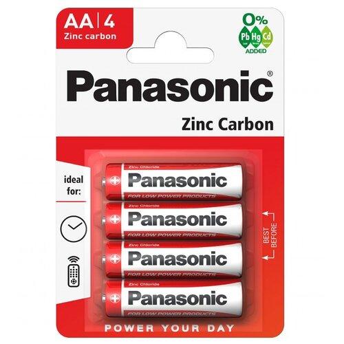 Батарейка Panasonic Zinc Carbon AA/R6 4 шт блистер