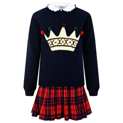 Купить Комплект одежды Il Gufo размер 140, синий/красный/белый, Комплекты и форма