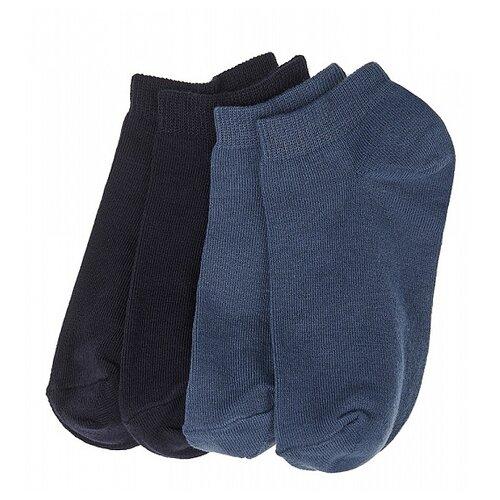 Купить Носки Oldos комплект из 4 пар, размер 23-25, темно-синий/джинс