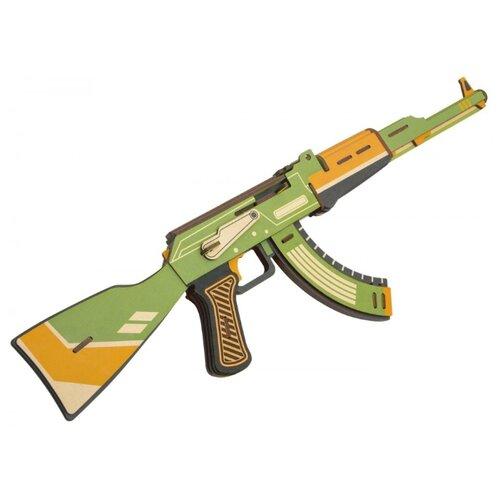 Купить 3D деревянный конструктор Robotime Штурмовая винтовка АК-47, Сборные модели