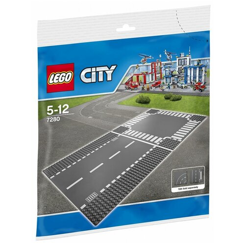 Купить Дополнительные детали LEGO City 7280 Перекресток и прямая проезжая часть, Конструкторы